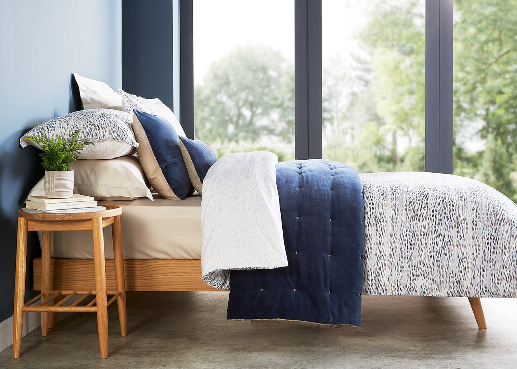 "Christy ""Giverny"" Bed Linen - Colour Ink Blue"