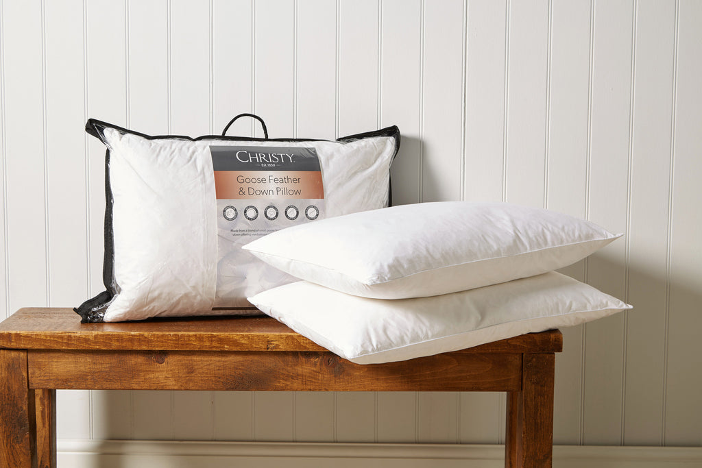 "Christy ""Goose Feather & Down"" Pair Pillows"