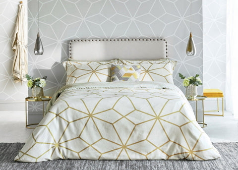 "Harlequin ""Axal"" Duvet Cover Set in Gold Ochre"