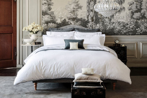 "Henry Christy ""Avignon"" 300TC Jacquard Bed Linen - colour White"