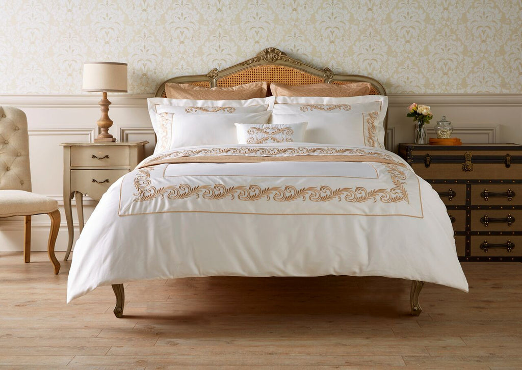 "Henry Christy ""Charlotte"" 300TC Sateen Bed Linen Collection in Cream"