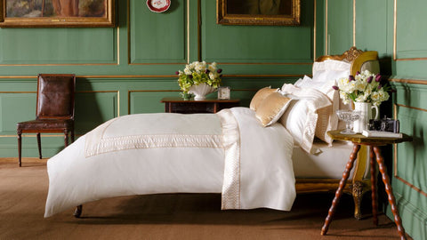 "Henry Christy ""Deco"" 300TC Sateen Bed Linen Collection in Cream"