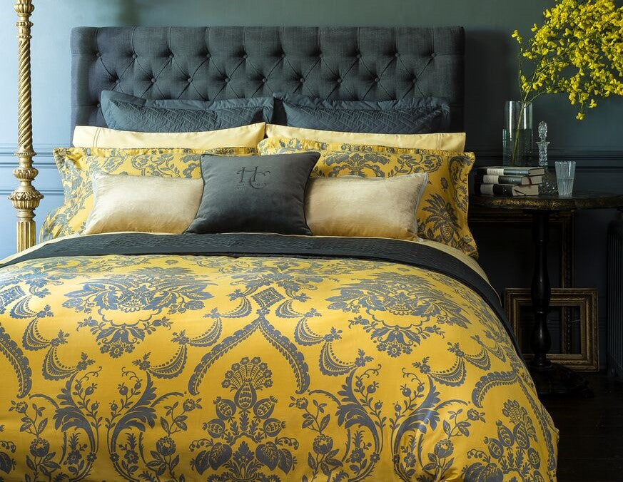 "Henry Christy ""Morton"" 300TC Sateen Bed Linen Collection in Ochre"