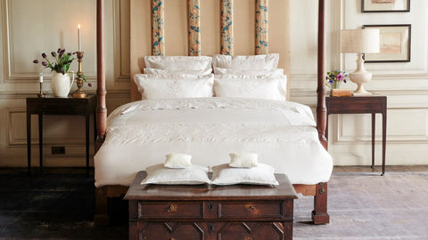 "Henry Christy ""Imperial"" 300TC Sateen Bed Linen Collection in Ivory"