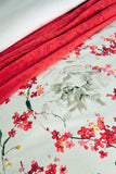 "Christy ""Haruki"" Duvet Cover Sets in Colour Cranberry (Silver)"