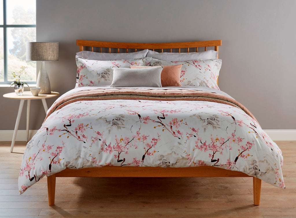 "Christy ""Haruki"" Bed Linen - Colour Pink Blossom"