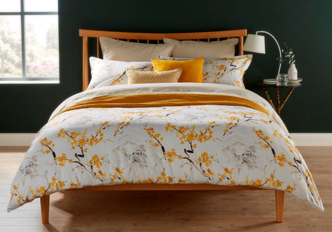 "Christy "" Haruki"" Bed Linen - Colour Ochre"