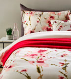 "Christy ""Ink Flower"" Bed Linen - Colour Fresh Pink"