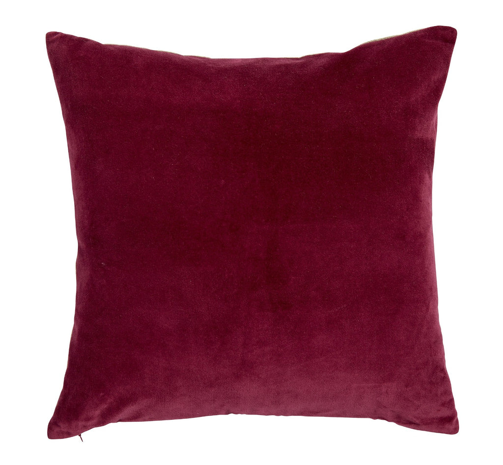 "Christy ""Jaipur"" Square Cushions - Magenta"