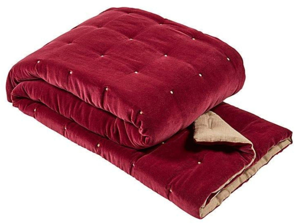 "Christy ""Jaipur"" Throws- Magenta"