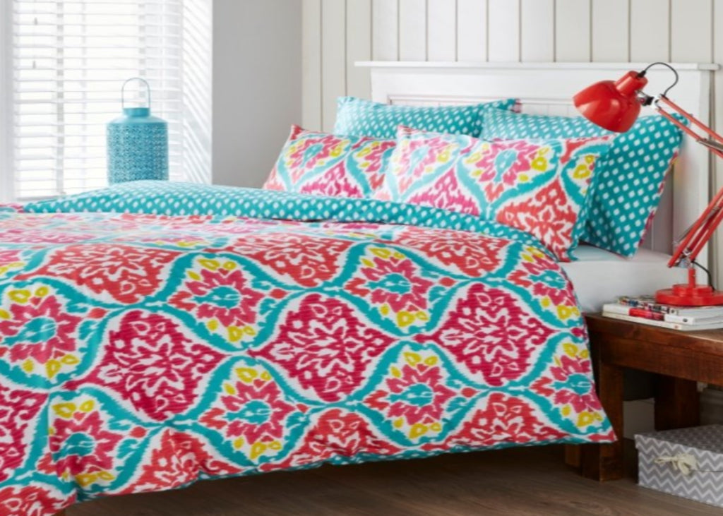 "Kingsley ""Jewel"" Bed Linen - Coral"