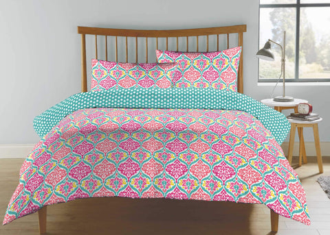"Kingsley ""Jewel"" Duvet Cover Sets in Coral Colour"