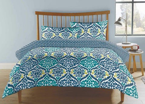 "Kingsley ""Jewel"" Duvet Cover Set in Petrol Colour"