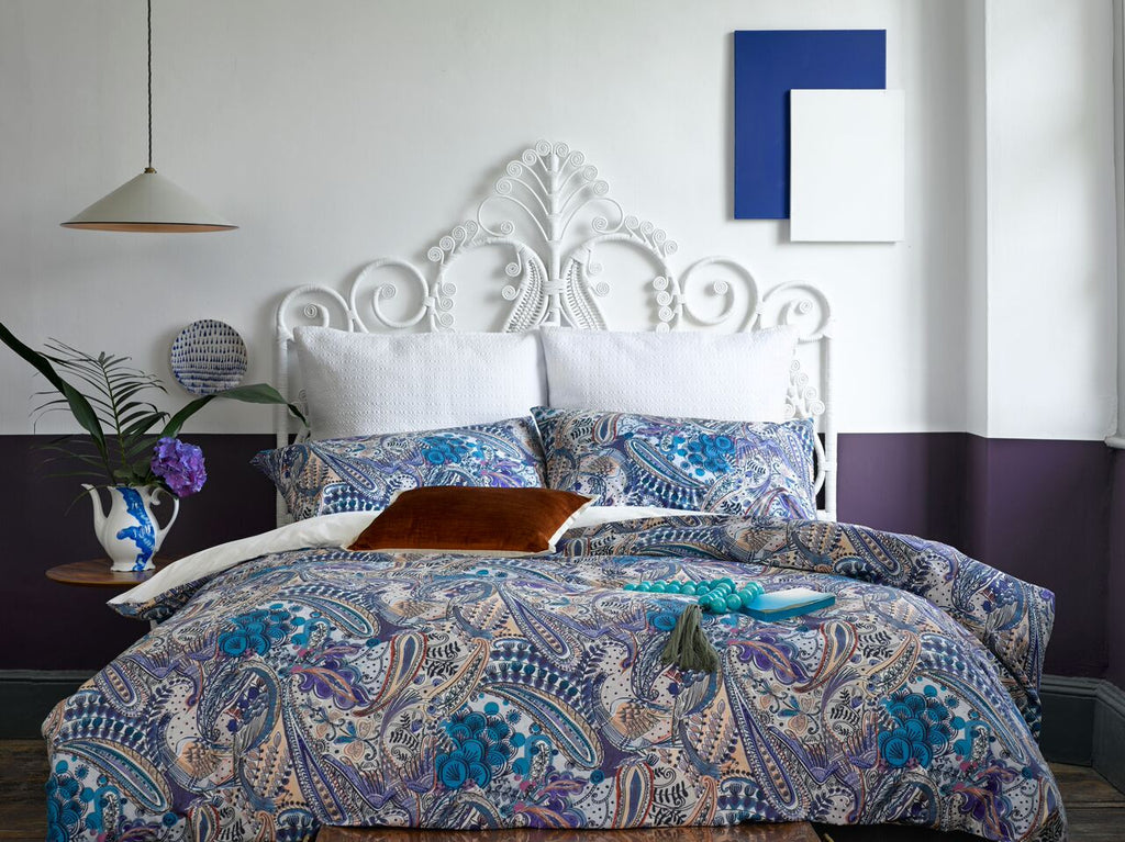 "Christy ""Kashvi"" Bed Linen - colour Petrol Blue"