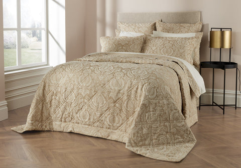"Christy ""Kingsbury"" Duvet Cover & Bedspread in Colour Stone"