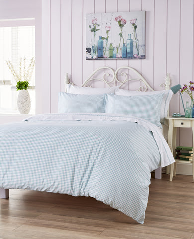 "Ditton Hill ""Kitty"" Bed Linen - colour Duck Egg"