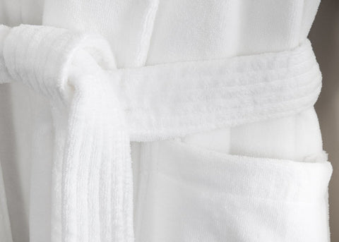 "Linen Obsession ""Spa Velour"" Robe in White"