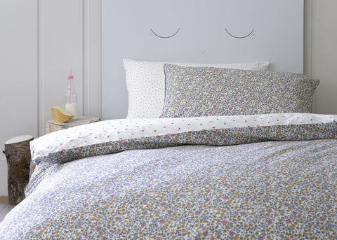 "Christy Junior ""Lady Bird Floral"" Bedlinen - Colour White"