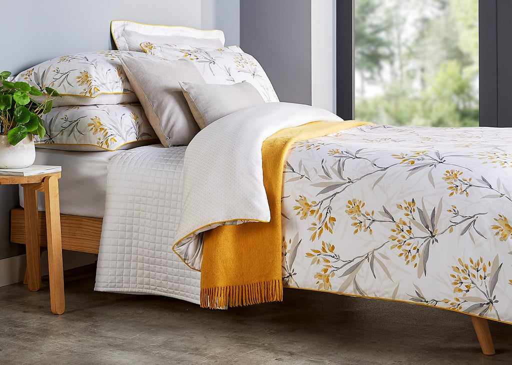 "Christy ""Malverly"" Duvet Cover Sets in Colour Ochre"