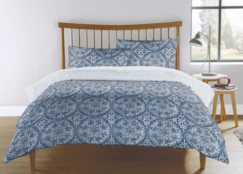 "Kingsley ""Mandala"" Bed Linen - Blue"