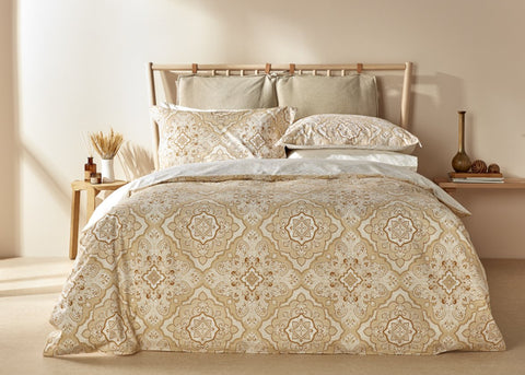 "NEW! - Christy ""Marrakesh"" Duvet Cover Sets in Gold Colour"