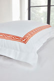 "Christy ""Matsuko"" Duvet Cover Sets with Orange ""Tangerine"" Embroidery"