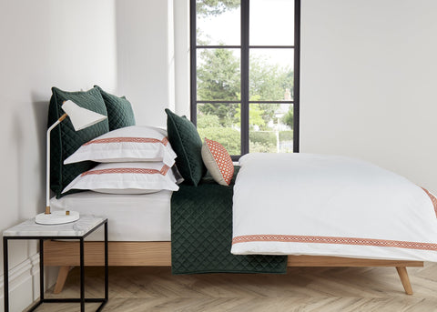 "Christy ""Matsuko"" Bed Linen - Colour Tangerine"