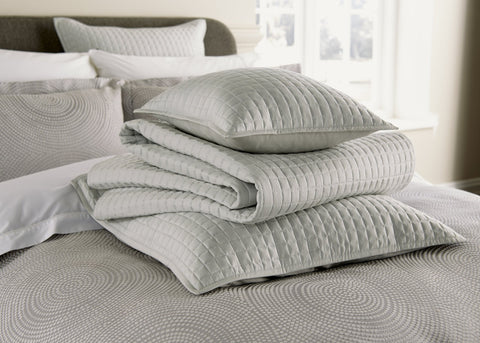 "Christy ""Metropolitan"" Euro & Pillow Shams - colour Platinum"