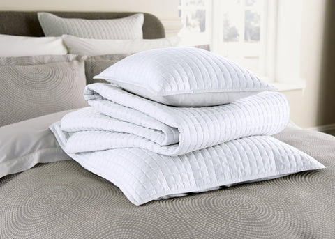 "Christy ""Metropolitan"" Euro Shams and Cushion - colour White"