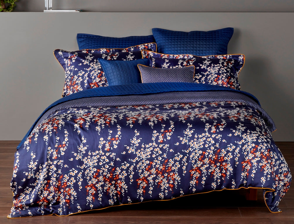 "Christy ""Morello Blossom"" Bed Linen - Colour Midnight"
