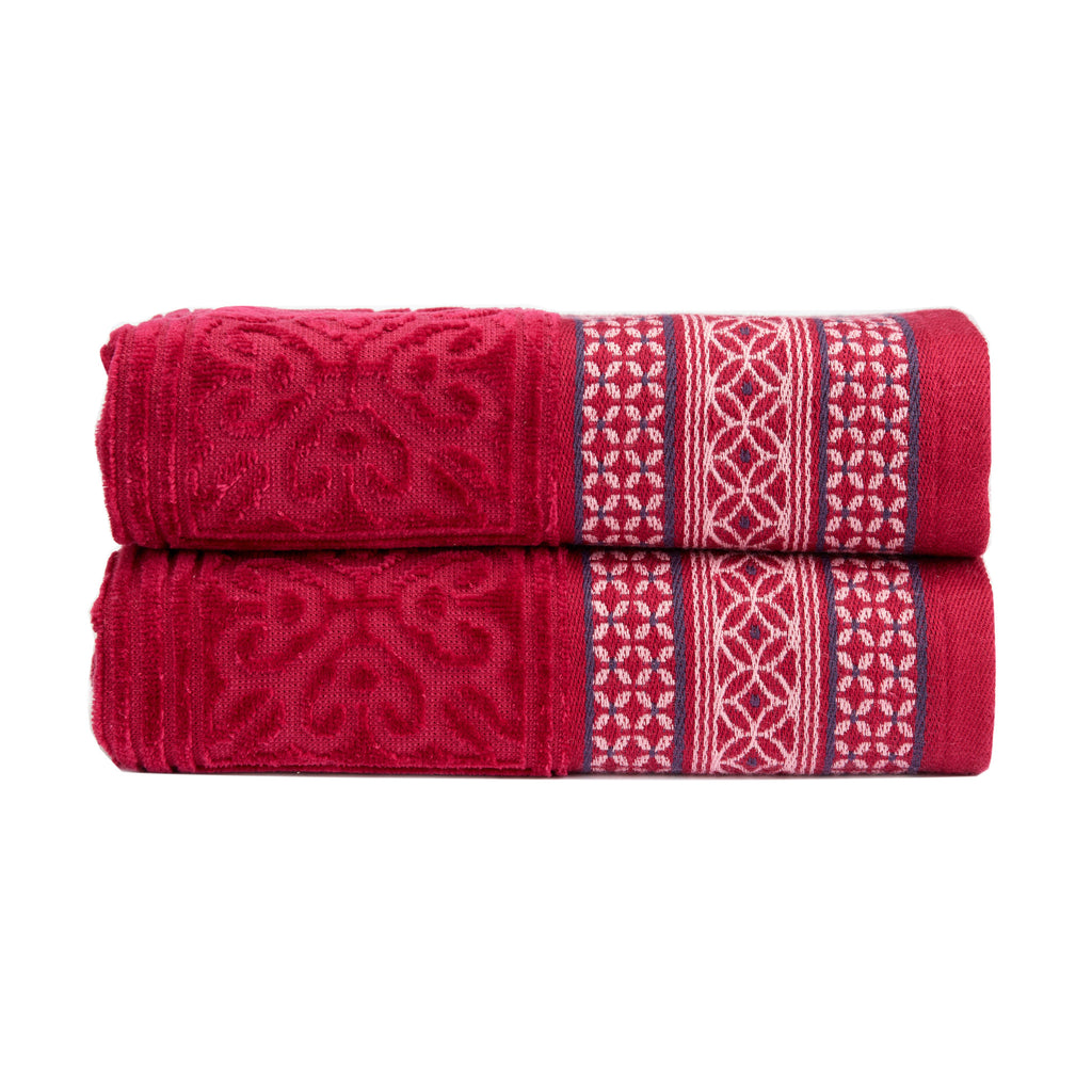 "Christy ""Movida"" Towel Collection in Raspberry"