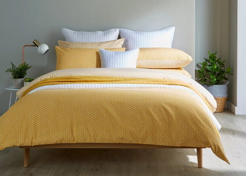 "Christy ""Namiko"" Duvet Cover Sets in Colour Ochre"