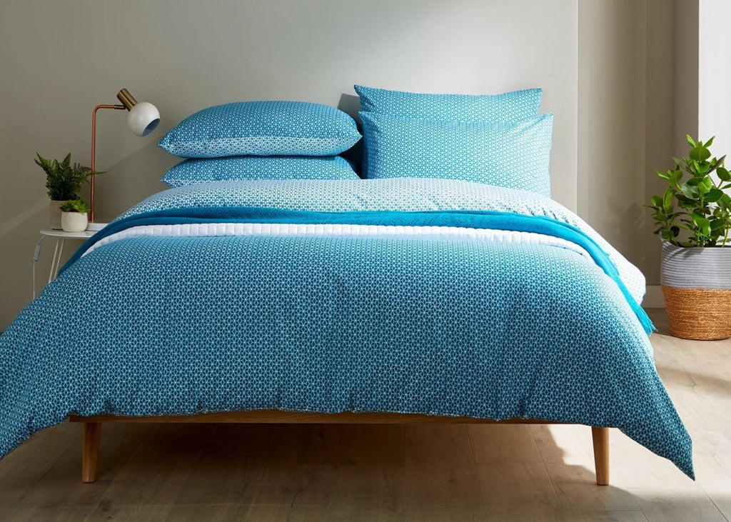 "Christy ""Namiko"" Bed Linen - Colour Teal"