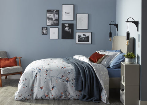 "NEW! - Christy ""Nikko"" Duvet Cover Sets in Mineral Colour"