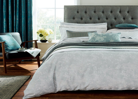 "Peacock Blue Hotel ""Cascia"" Duvet Cover Sets"