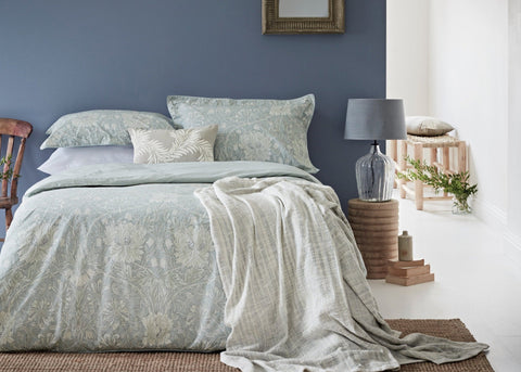 "Morris & Co ""Pure Honey Suckle & Tulip"" Duvet Cover Sets"