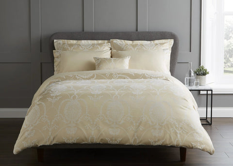 "Christy ""Pemberly"" Duvet Cover Sets in Gold"