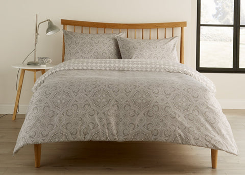 "Kingsley ""Penang"" Bed Linen - Pebble"