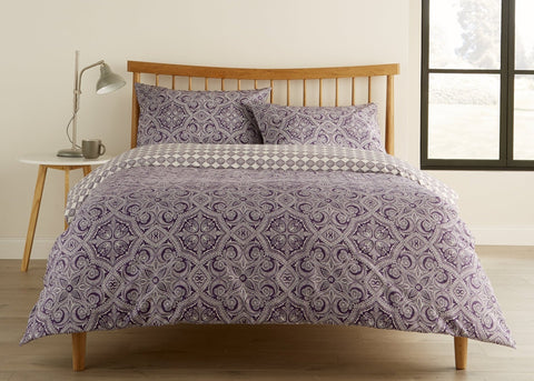 "Kingsley ""Penang"" Duvet Cover Sets in Berry Colour"