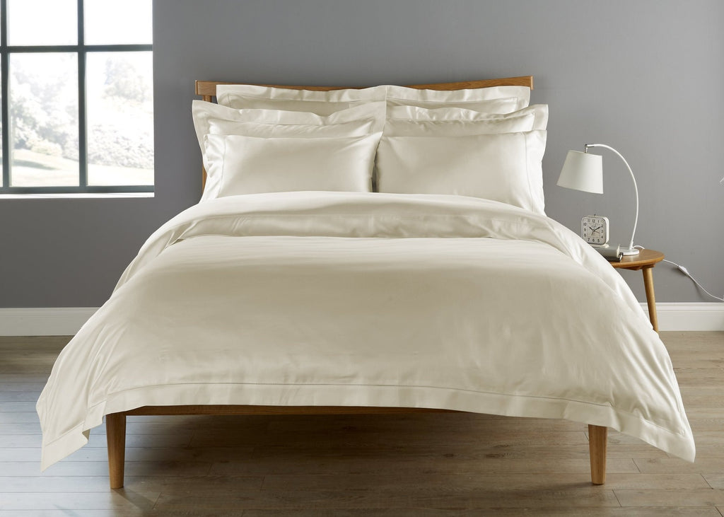 "Christy Premium ""900 Thread Count Picot"" Bed Linen in Colour Cream"