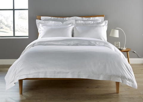 "Christy Premium ""900 Thread Count Picot"" Bed Linen - in White"