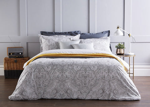 "Christy ""Rhapsody"" Duvet Cover Sets in Silver"