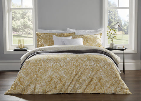 "Christy ""Rhapsody"" Duvet Cover Sets in Ochre"