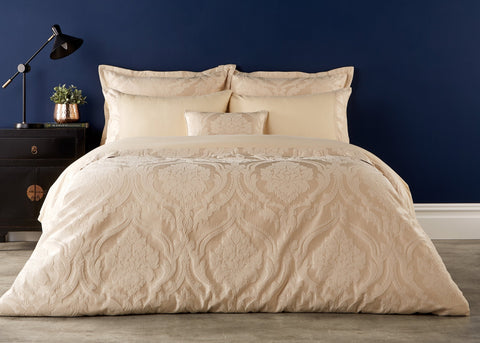 "Christy ""Rochester"" Pale Gold Duvet Cover Sets"