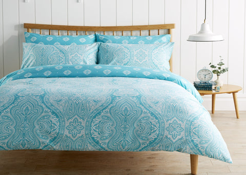"Kingsley ""Safi"" Bed Linen - Turquoise"