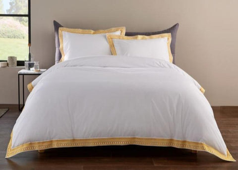 "Christy ""Salinas"" Bed Linen - Colour Turmeric"