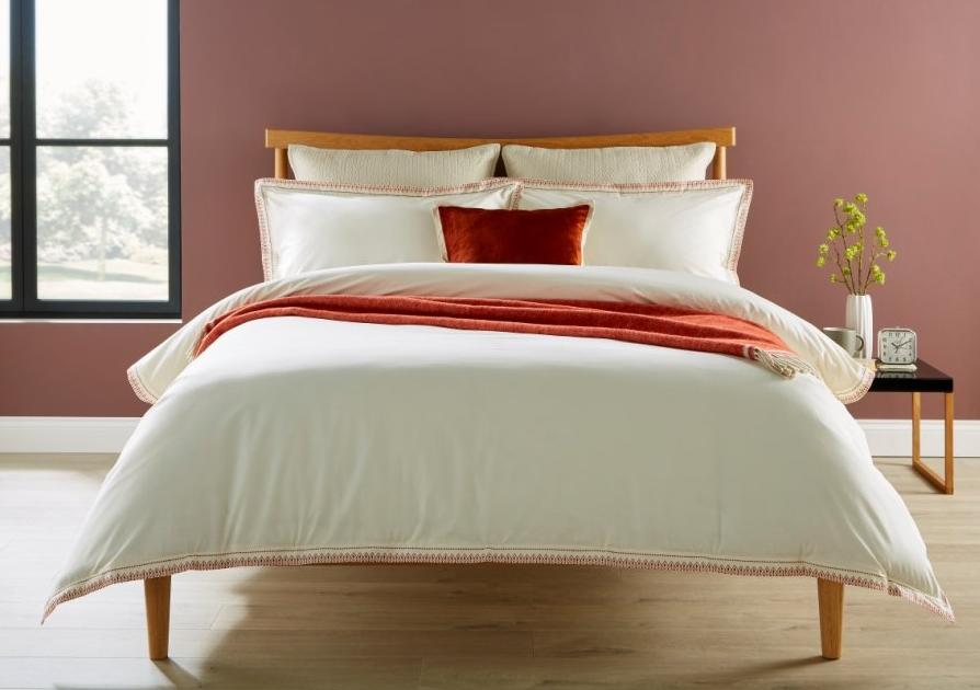 "Christy ""Santa Fe"" Bed Linen - with Rust Embroidery"