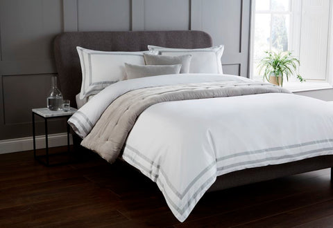 "Christy ""Stamford"" Bed Linen - Colour Platinum"