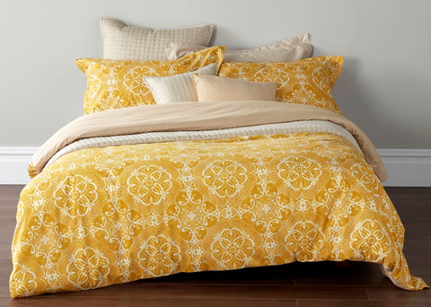 "Christy ""Sumatra"" Bed Linen - Colour Ochre"
