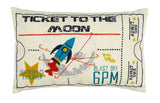 "Christy Junior ""Moon Ticket"" Filled Cushion"